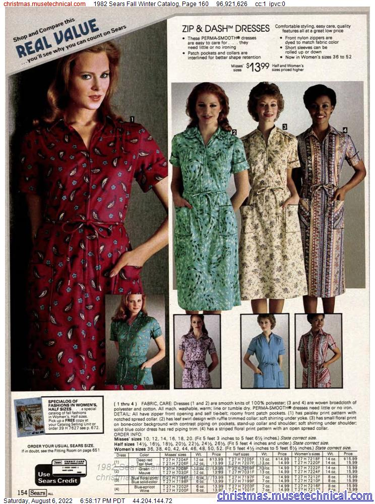 1982 Sears Fall Winter Catalog, Page 160