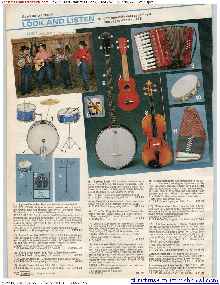 1981 Sears Christmas Book, Page 454