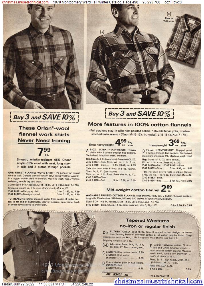 1970 Montgomery Ward Fall Winter Catalog, Page 490
