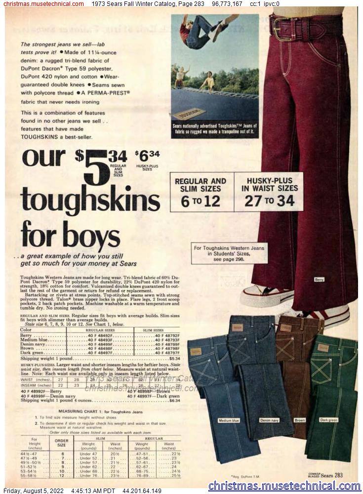 1973 Sears Fall Winter Catalog, Page 283