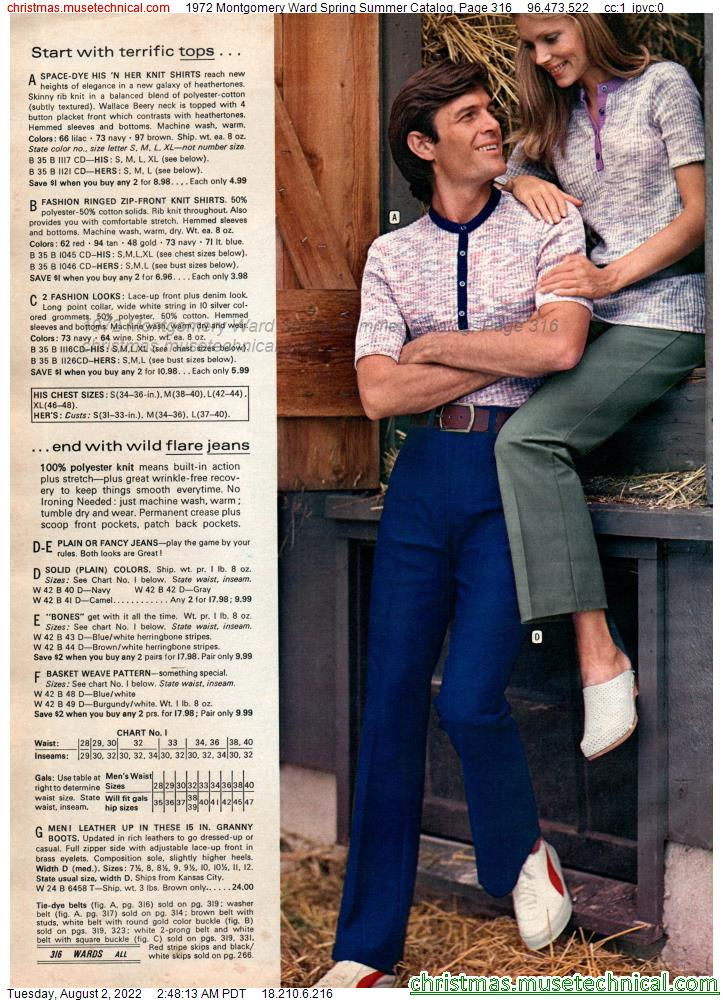1972 Montgomery Ward Spring Summer Catalog, Page 316