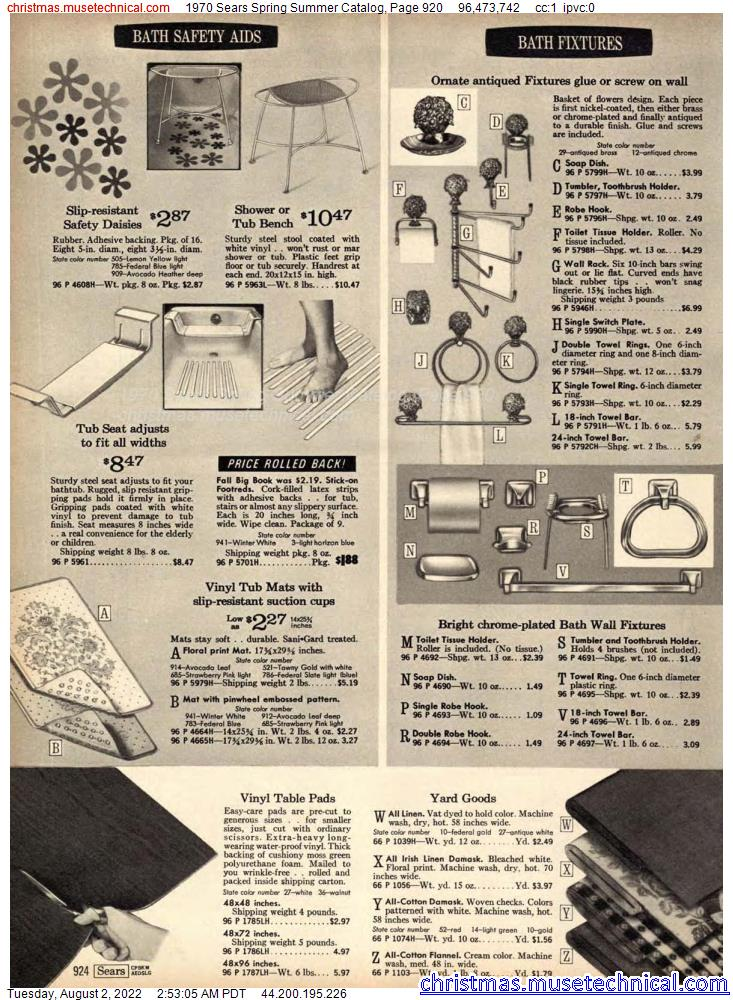 1970 Sears Spring Summer Catalog, Page 920