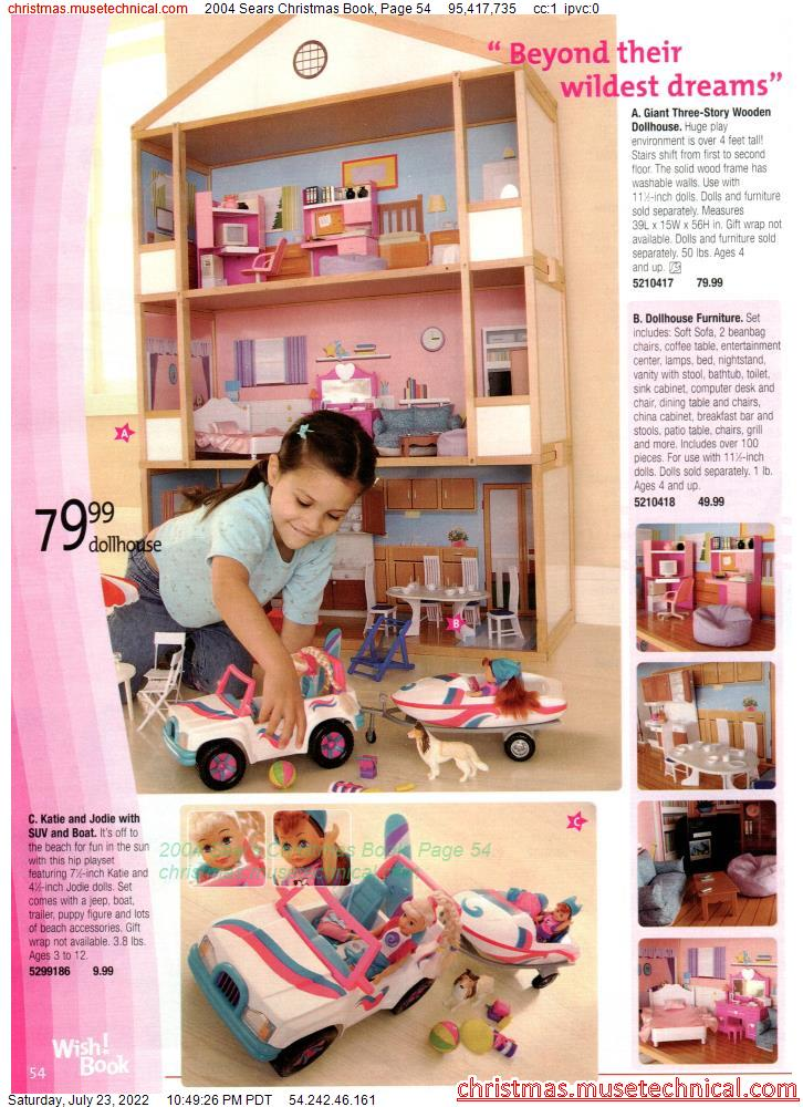 2004 Sears Christmas Book, Page 54