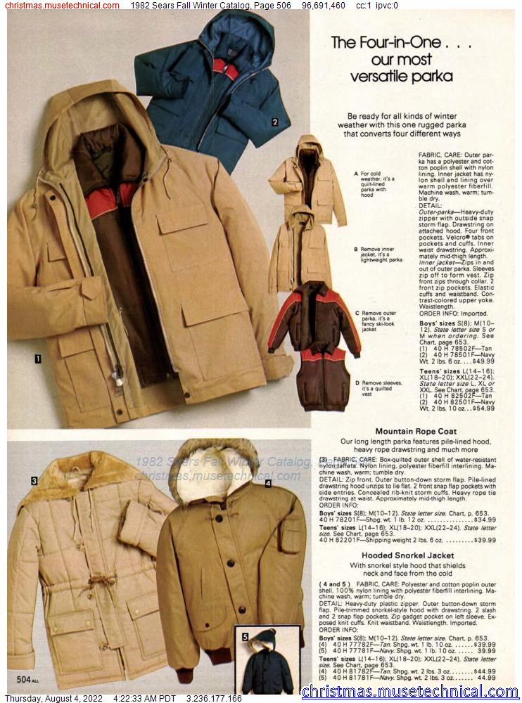 1982 Sears Fall Winter Catalog, Page 506
