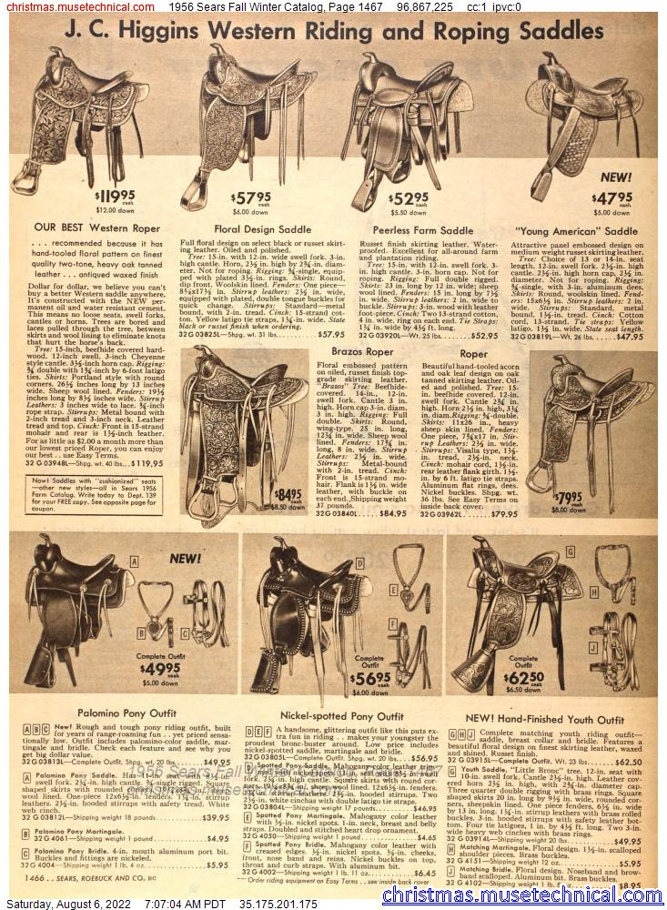 1956 Sears Fall Winter Catalog, Page 1467