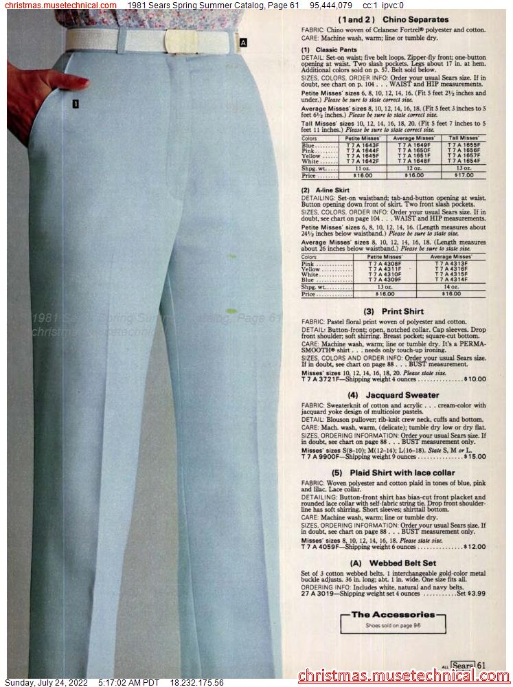 1981 Sears Spring Summer Catalog, Page 61