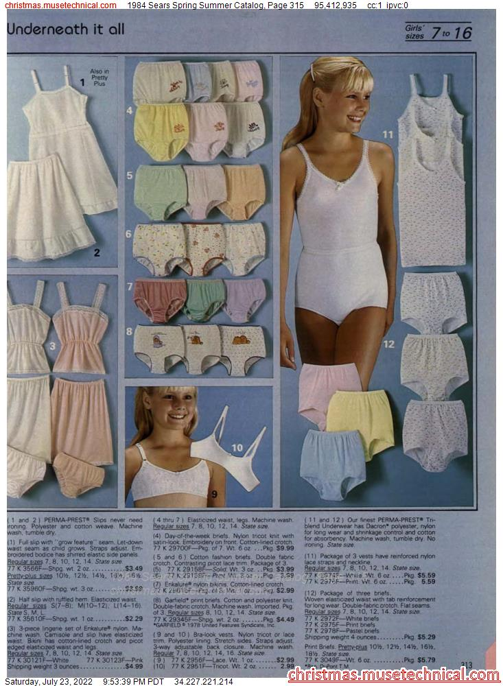 1984 Sears Spring Summer Catalog, Page 315