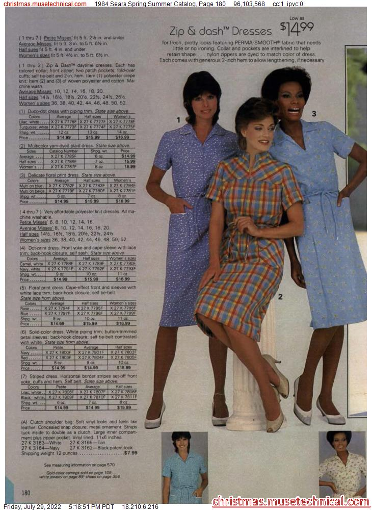 1984 Sears Spring Summer Catalog, Page 180