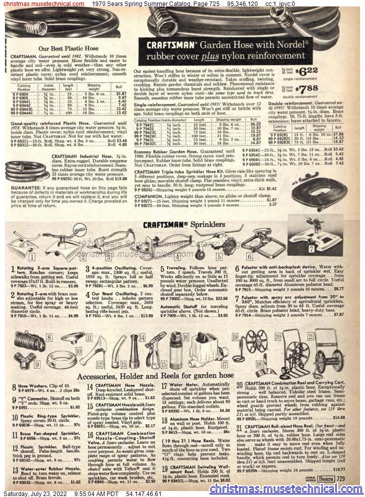 1970 Sears Spring Summer Catalog, Page 725
