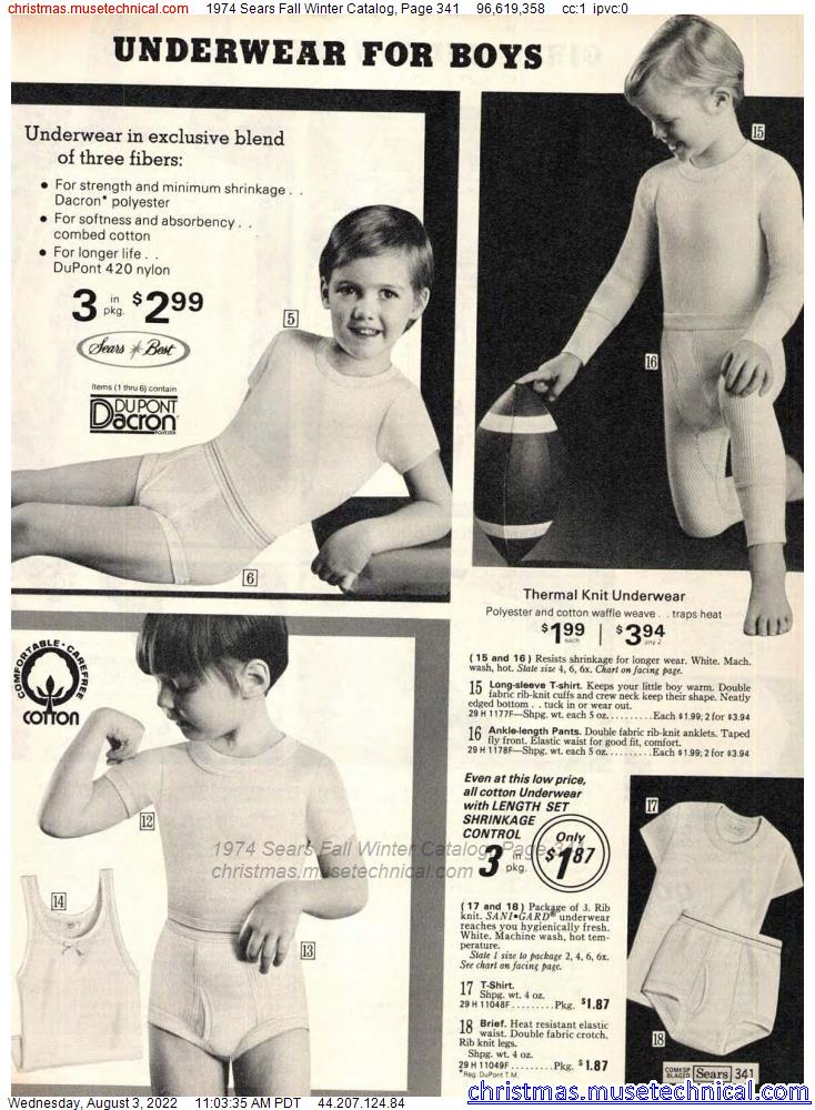 1974 Sears Fall Winter Catalog, Page 341