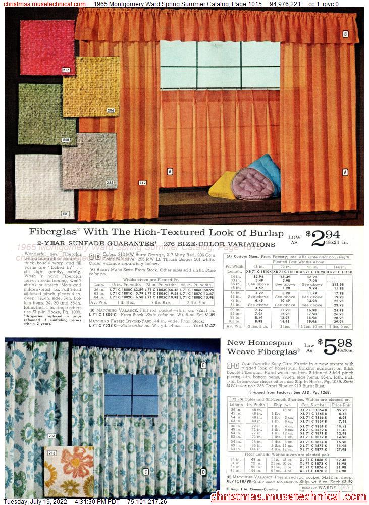 1965 Montgomery Ward Spring Summer Catalog, Page 1015