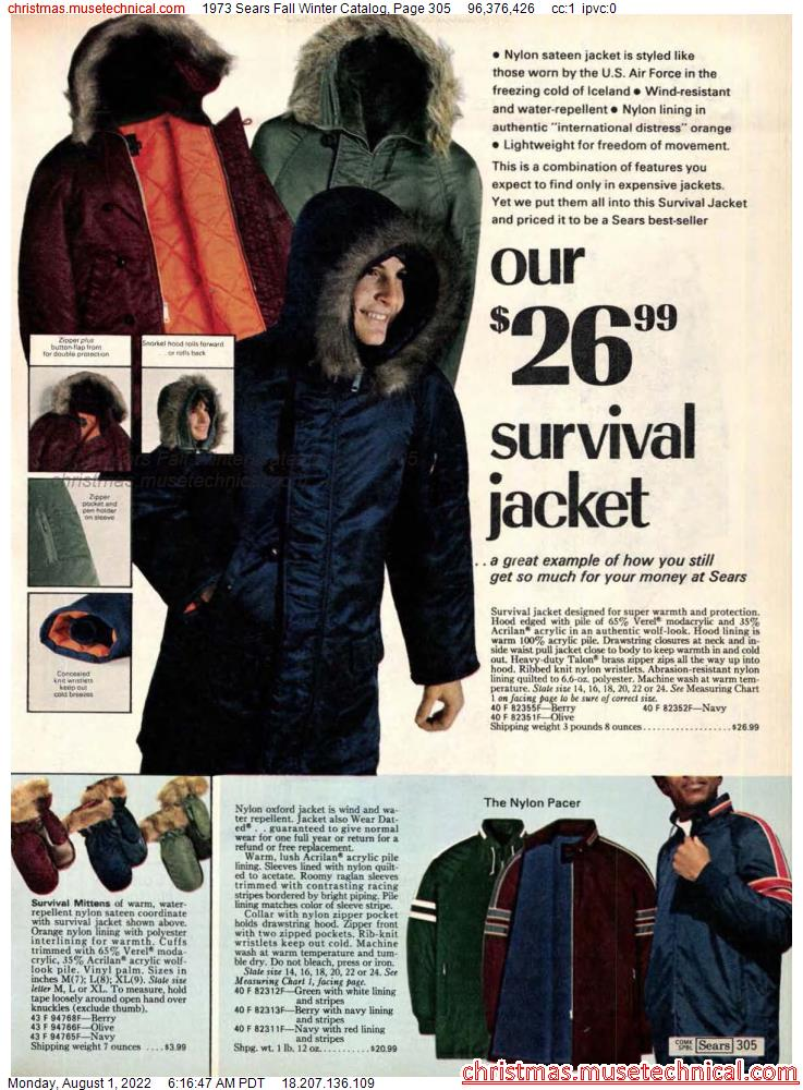 1973 Sears Fall Winter Catalog, Page 305