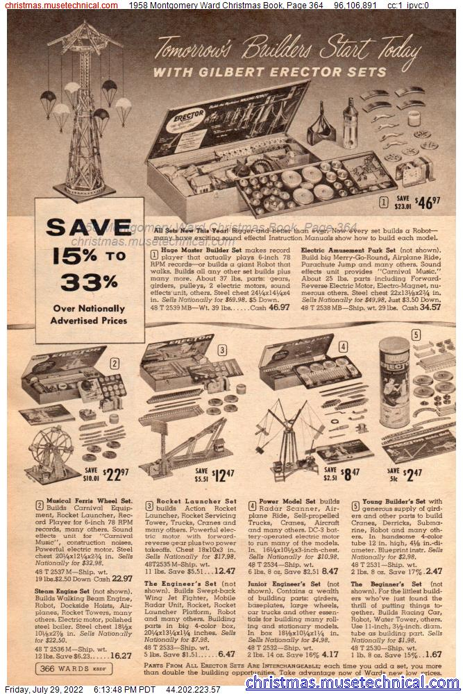 1958 Montgomery Ward Christmas Book, Page 364