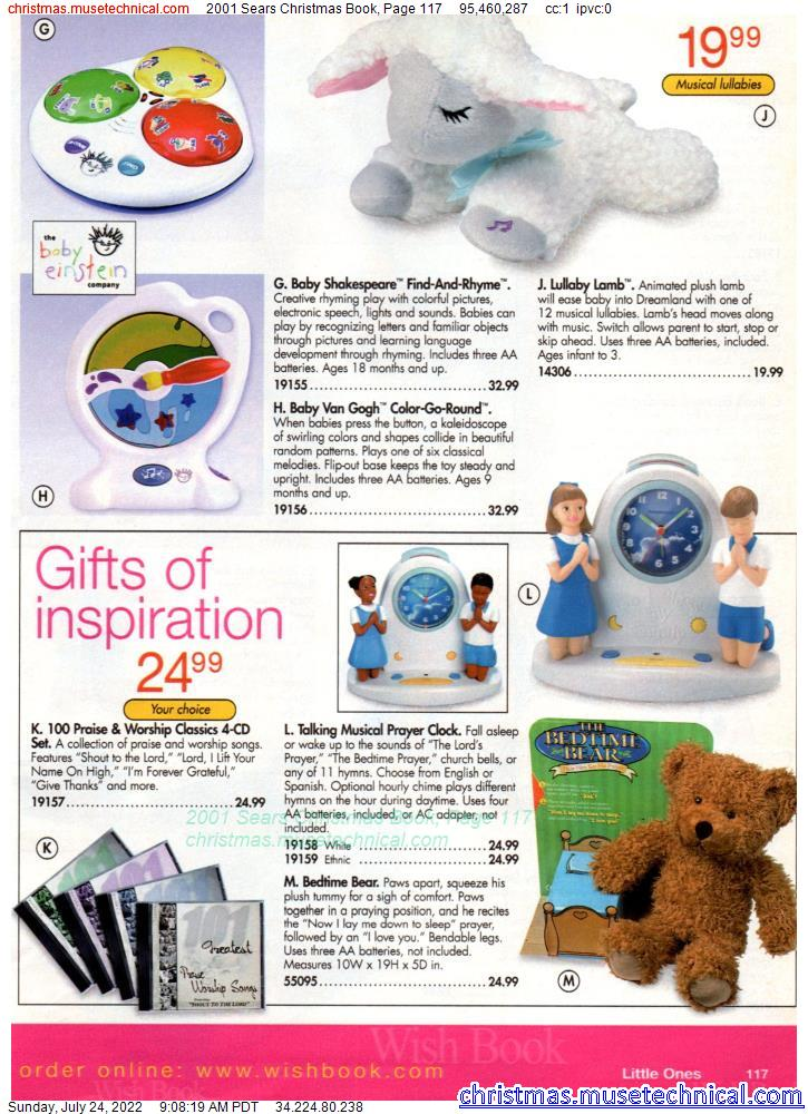 2001 Sears Christmas Book, Page 117