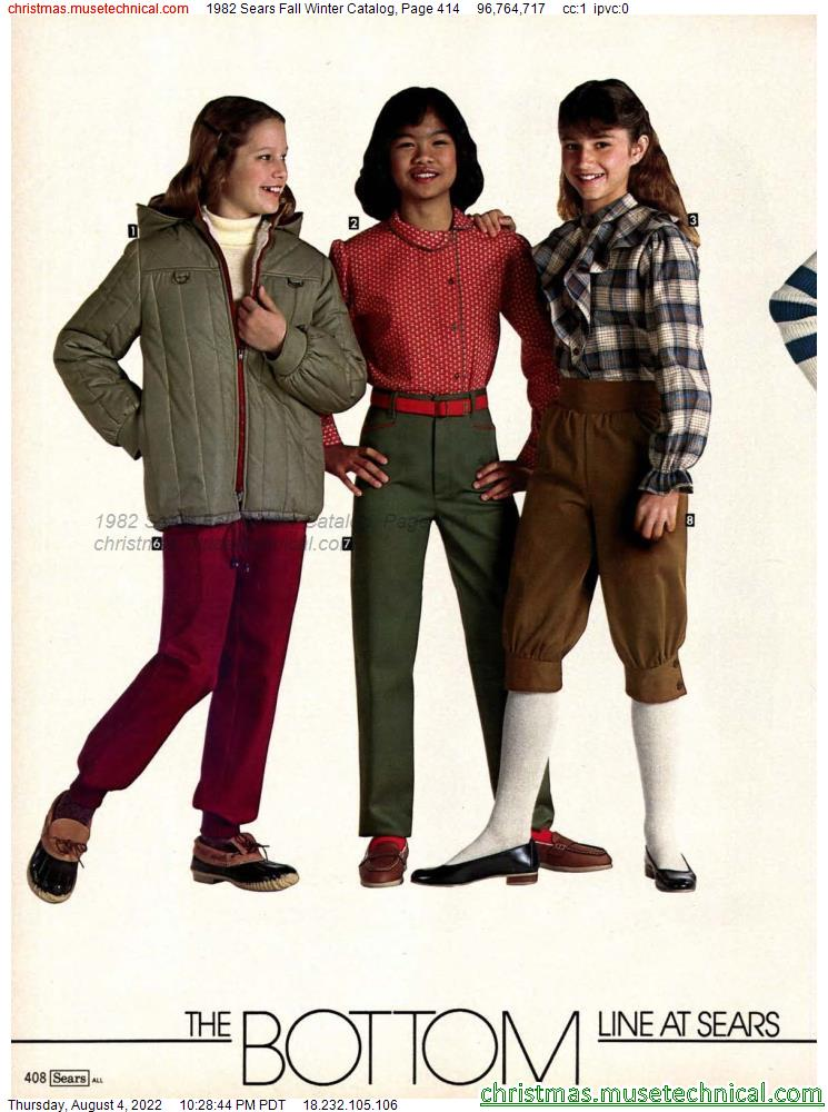 1982 Sears Fall Winter Catalog, Page 414