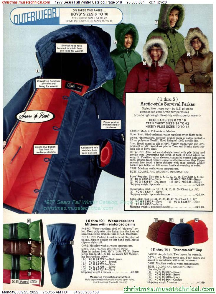 1977 Sears Fall Winter Catalog, Page 518