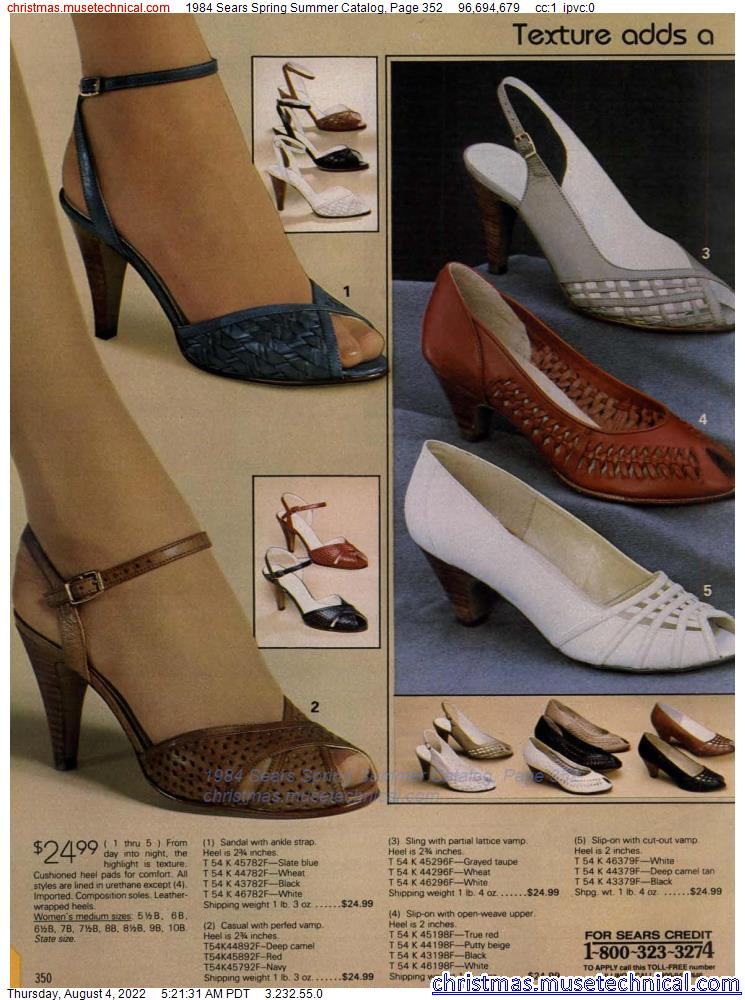 1984 Sears Spring Summer Catalog, Page 352