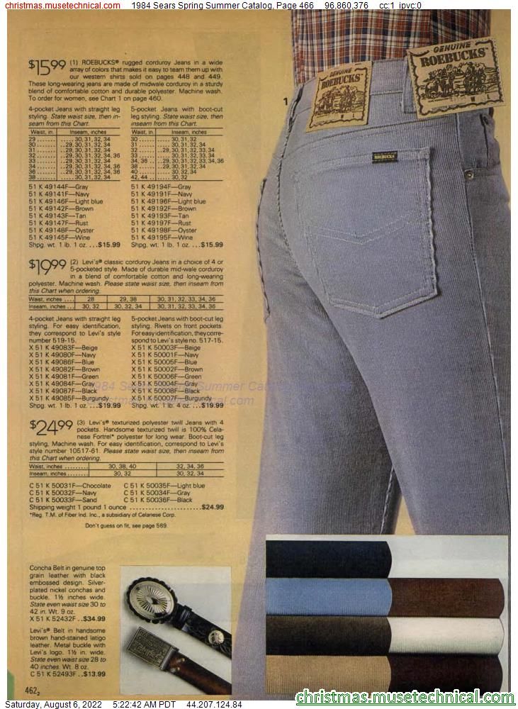 1984 Sears Spring Summer Catalog, Page 466