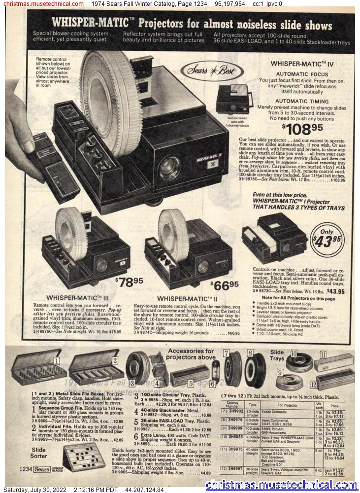 1974 Sears Fall Winter Catalog, Page 1234