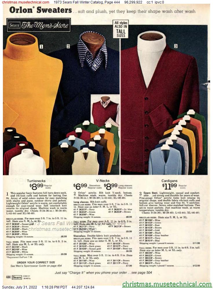 1973 Sears Fall Winter Catalog, Page 444