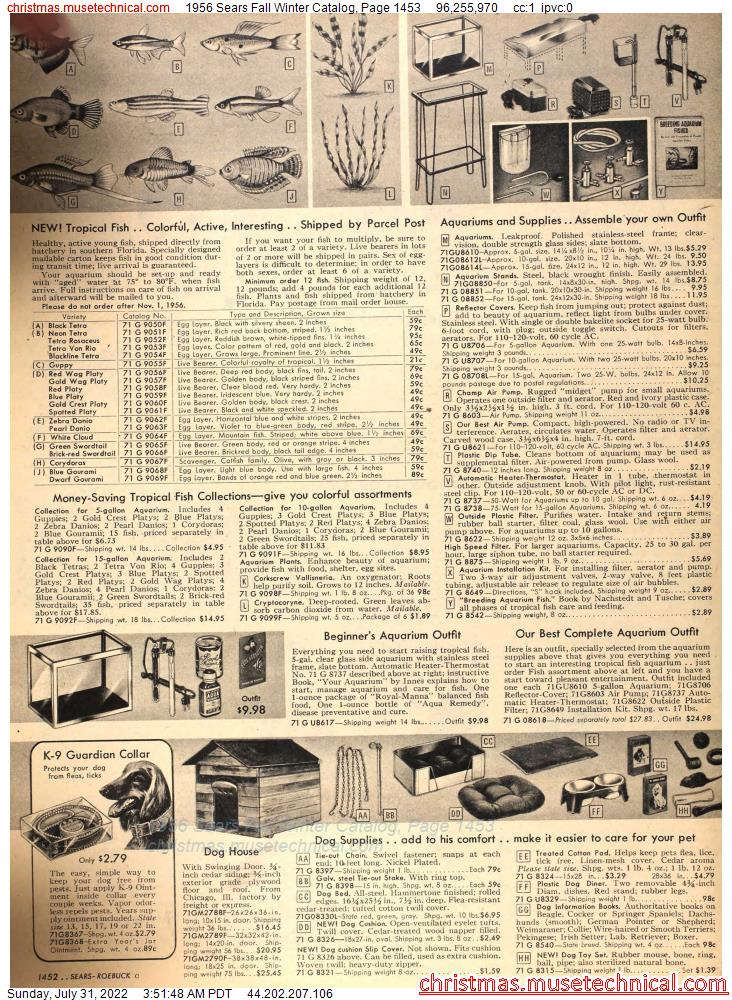 1956 Sears Fall Winter Catalog, Page 1453