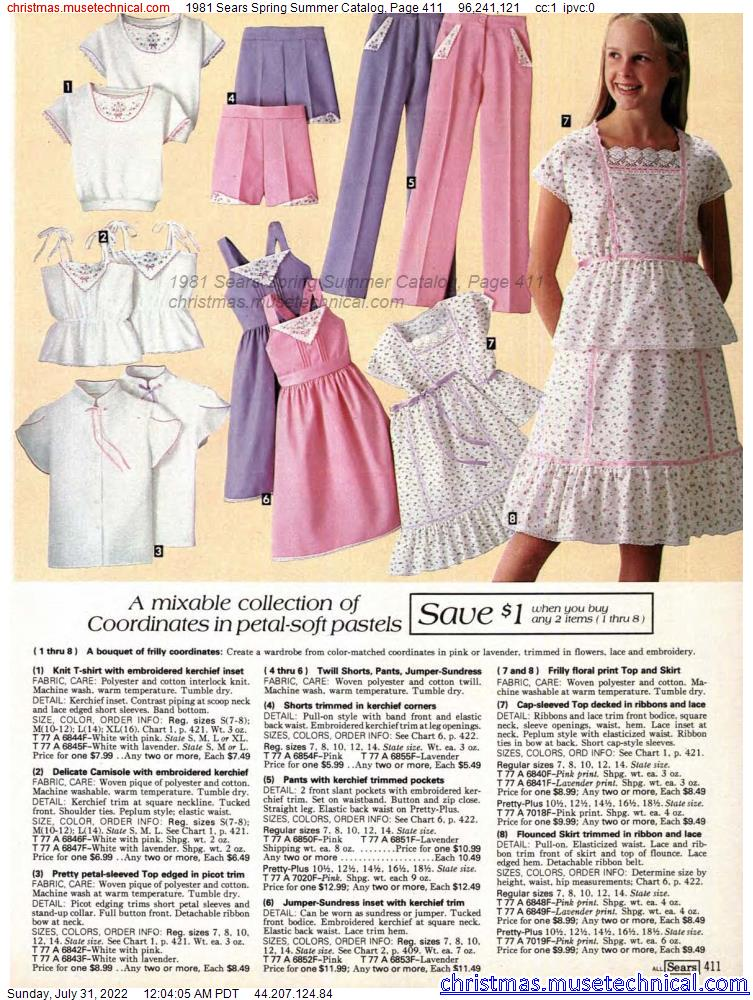 1981 Sears Spring Summer Catalog, Page 411