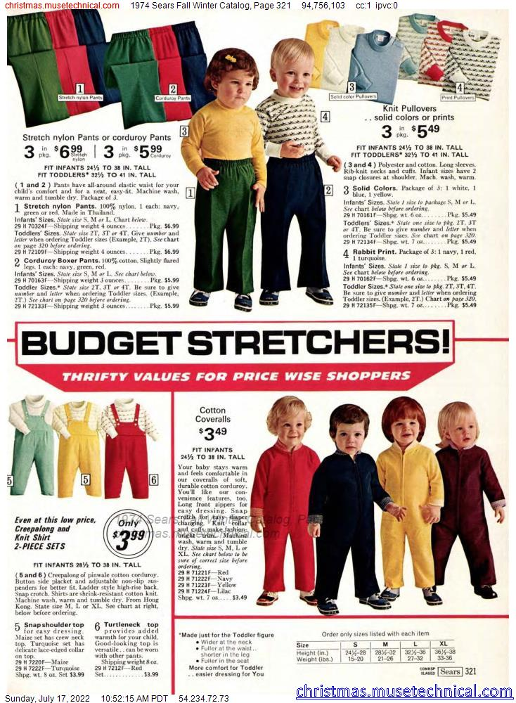 1974 Sears Fall Winter Catalog, Page 321