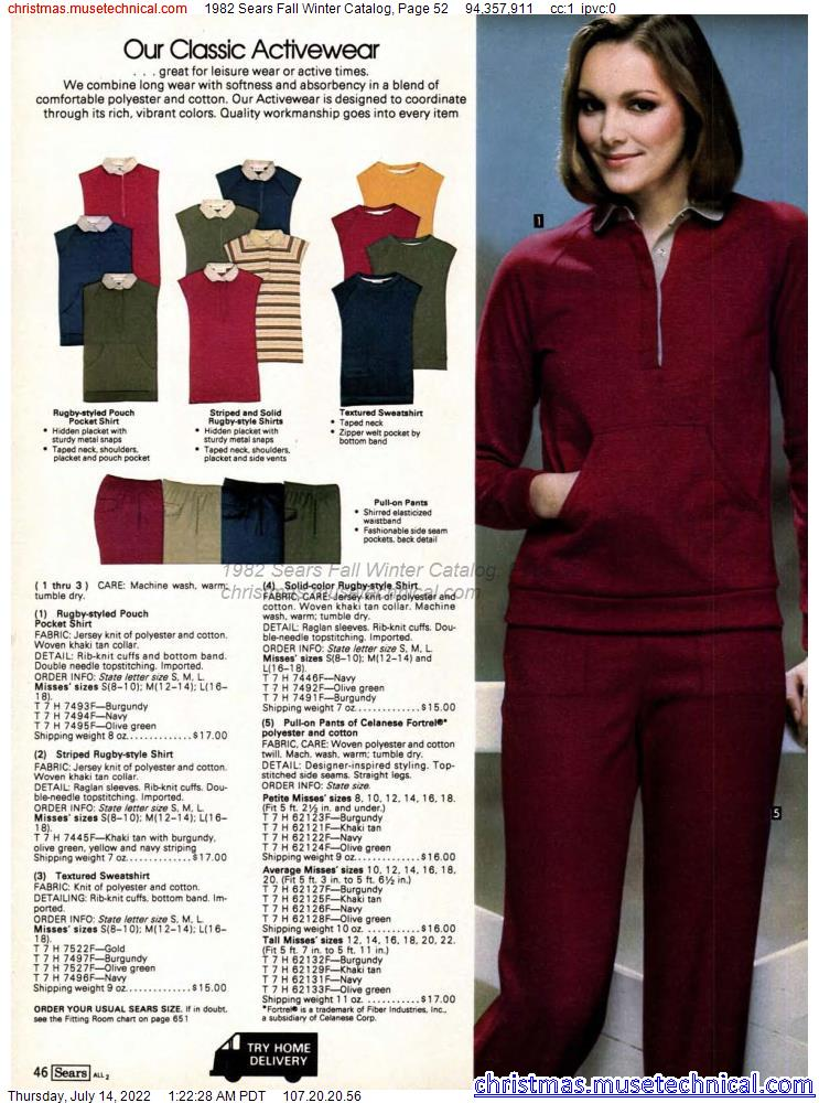 1982 Sears Fall Winter Catalog, Page 52