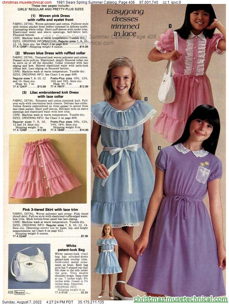 1981 Sears Spring Summer Catalog, Page 408