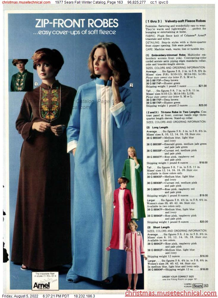 1977 Sears Fall Winter Catalog, Page 163