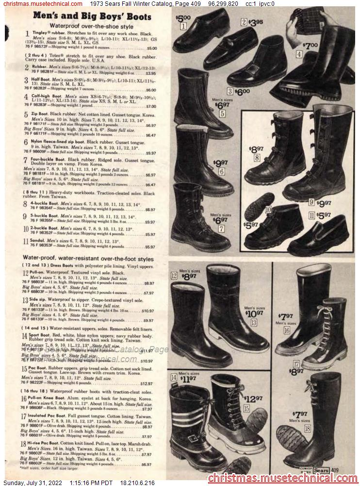 1973 Sears Fall Winter Catalog, Page 409