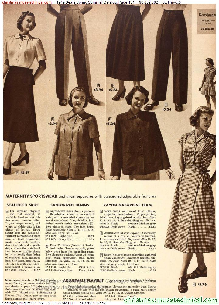 1949 Sears Spring Summer Catalog, Page 151