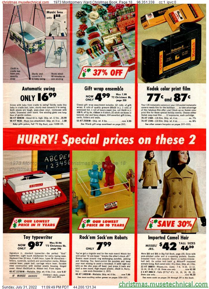 1973 Montgomery Ward Christmas Book, Page 18