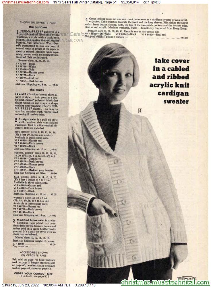 1973 Sears Fall Winter Catalog, Page 51