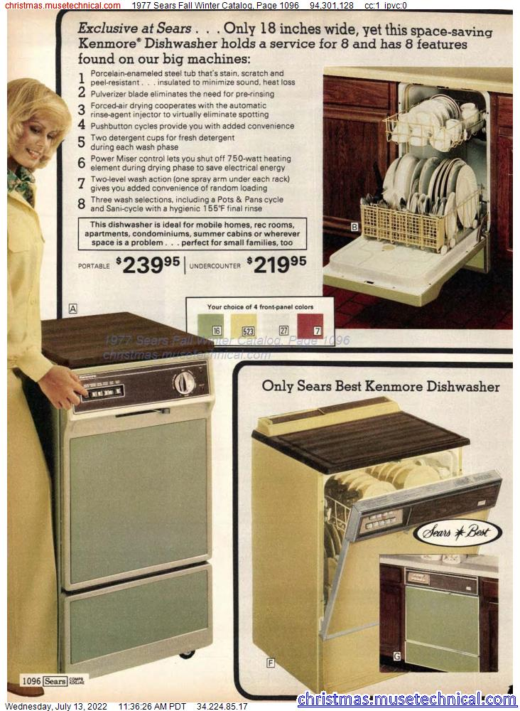 1977 Sears Fall Winter Catalog, Page 1096