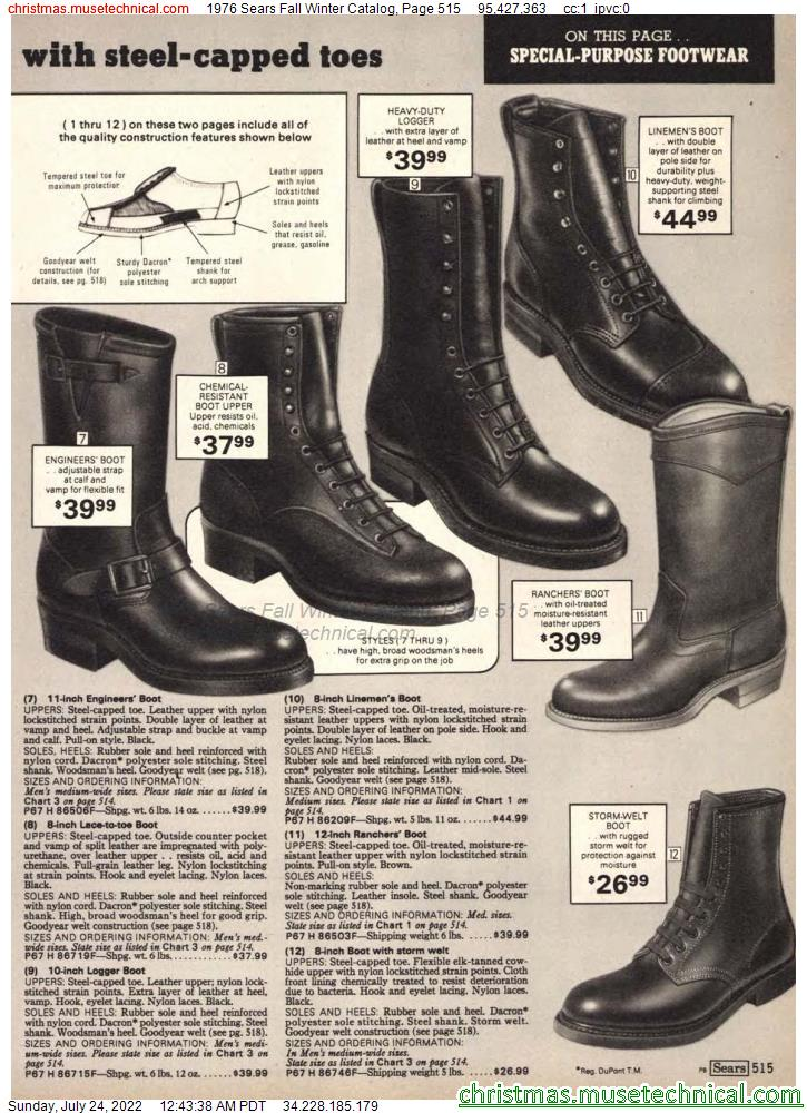 1976 Sears Fall Winter Catalog, Page 515