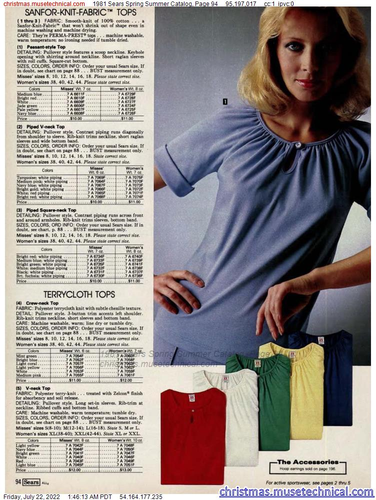 1981 Sears Spring Summer Catalog, Page 94