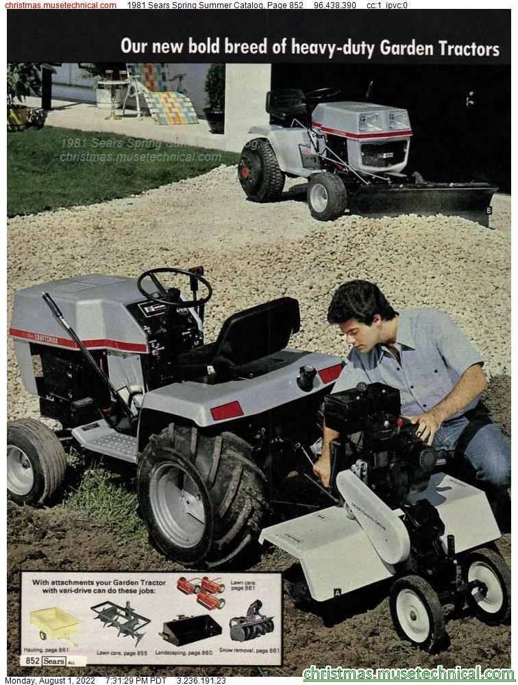 1981 Sears Spring Summer Catalog, Page 852