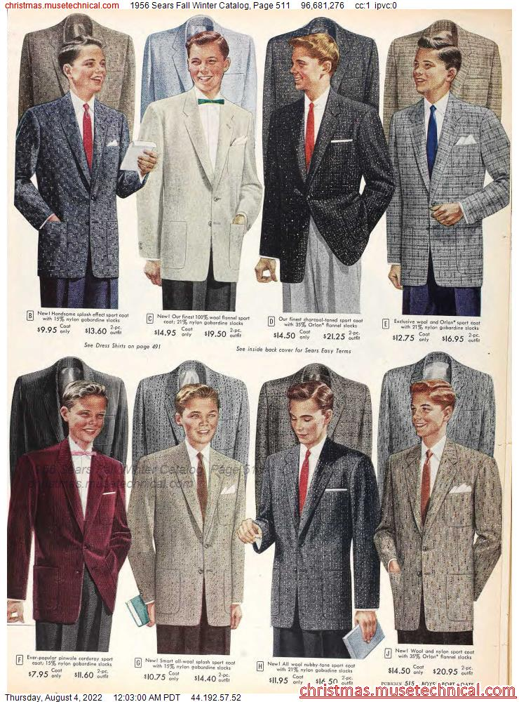 1956 Sears Fall Winter Catalog, Page 511