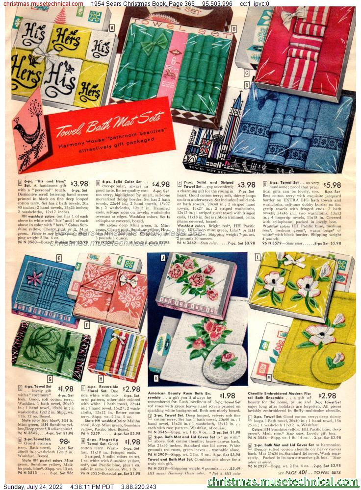 1954 Sears Christmas Book, Page 365