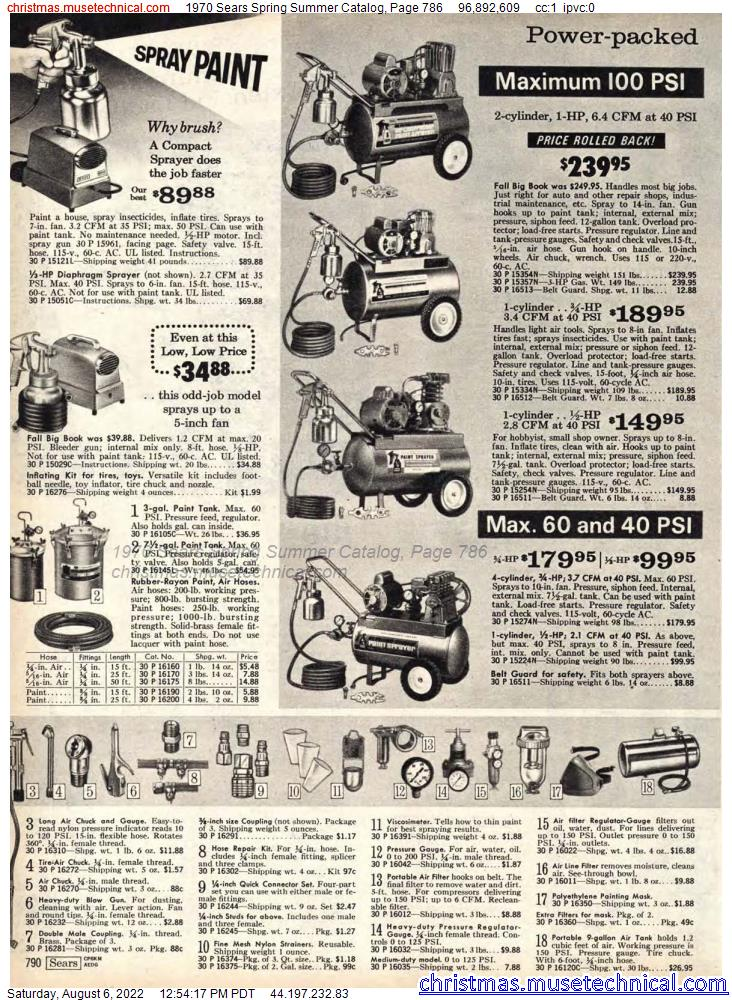 1970 Sears Spring Summer Catalog, Page 786