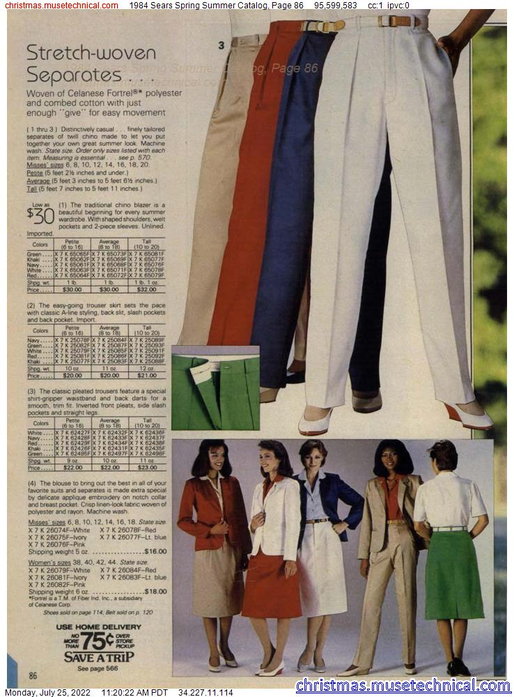 1984 Sears Spring Summer Catalog, Page 86