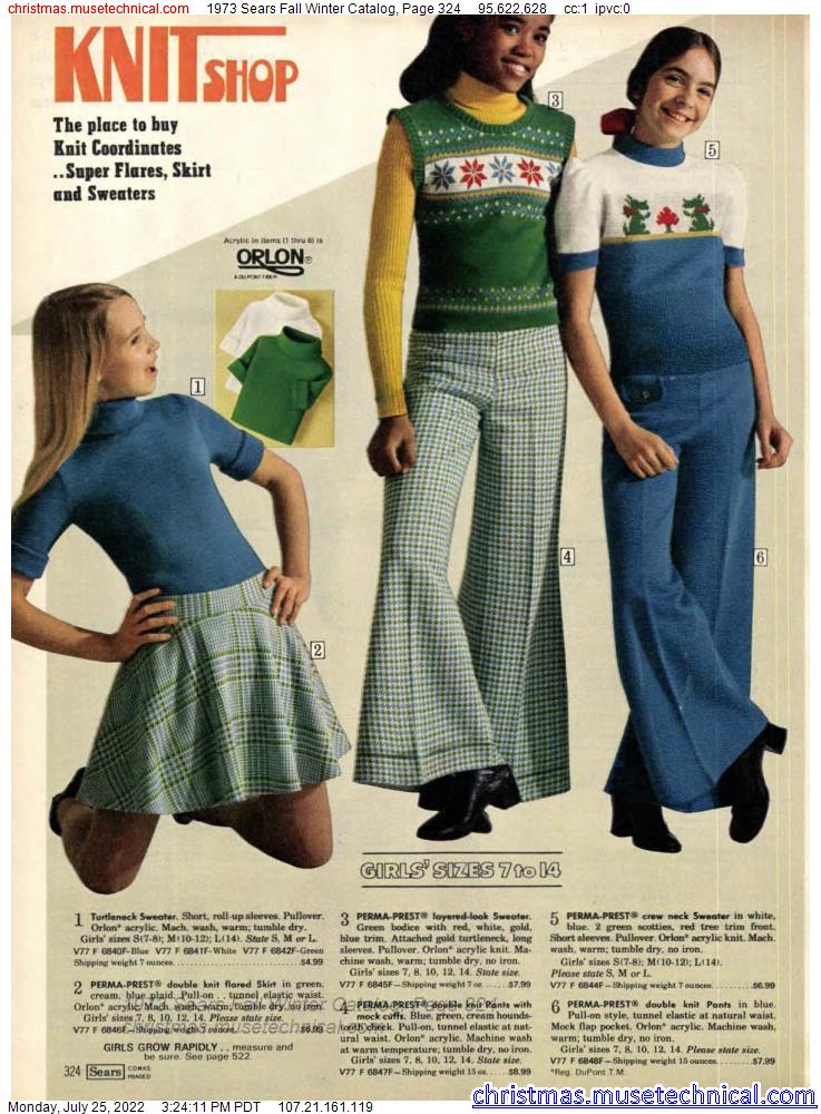 1973 Sears Fall Winter Catalog, Page 324