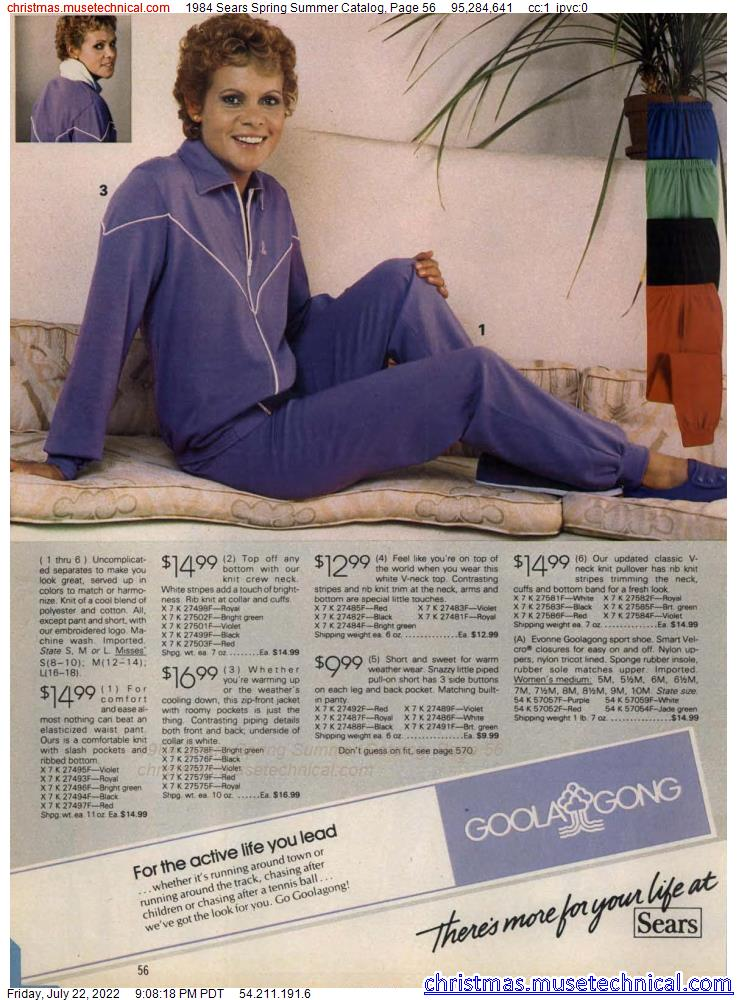1984 Sears Spring Summer Catalog, Page 56