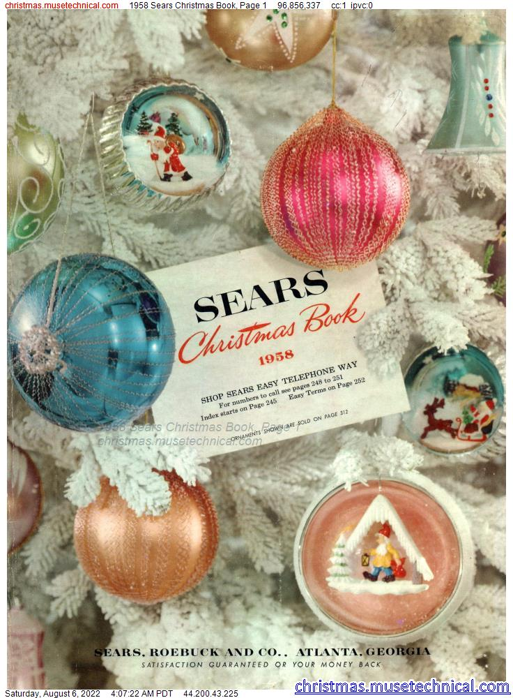1958 Sears Christmas Book, Page 1
