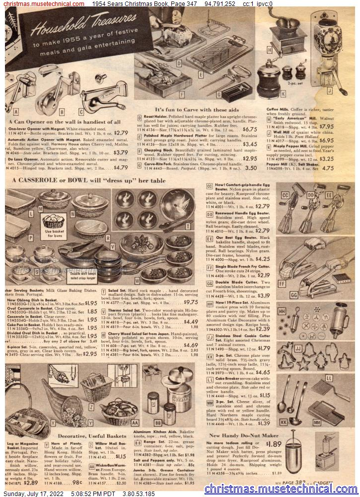 1954 Sears Christmas Book, Page 347