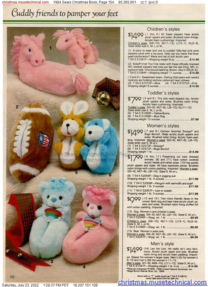 1984 Sears Christmas Book, Page 154