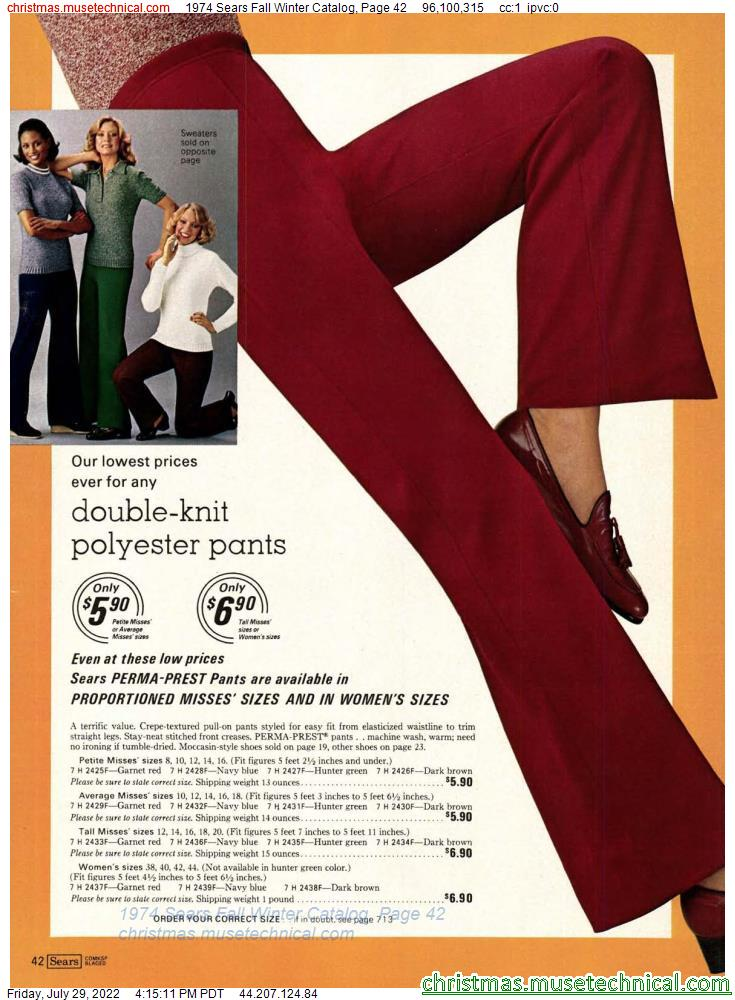 1974 Sears Fall Winter Catalog, Page 42