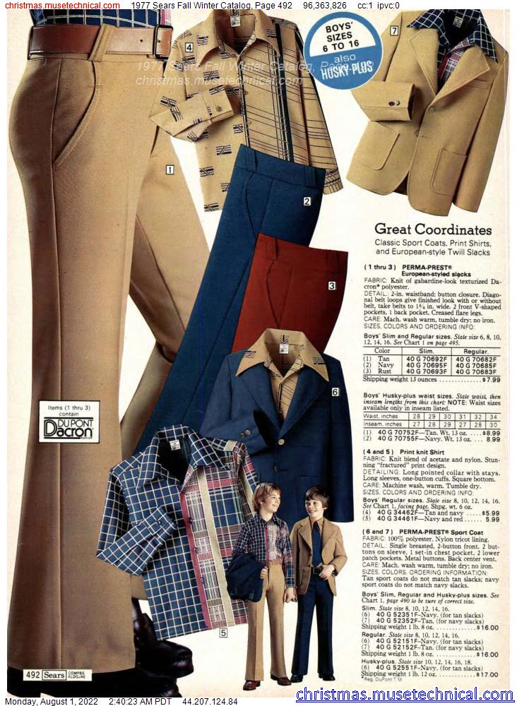 1977 Sears Fall Winter Catalog, Page 492