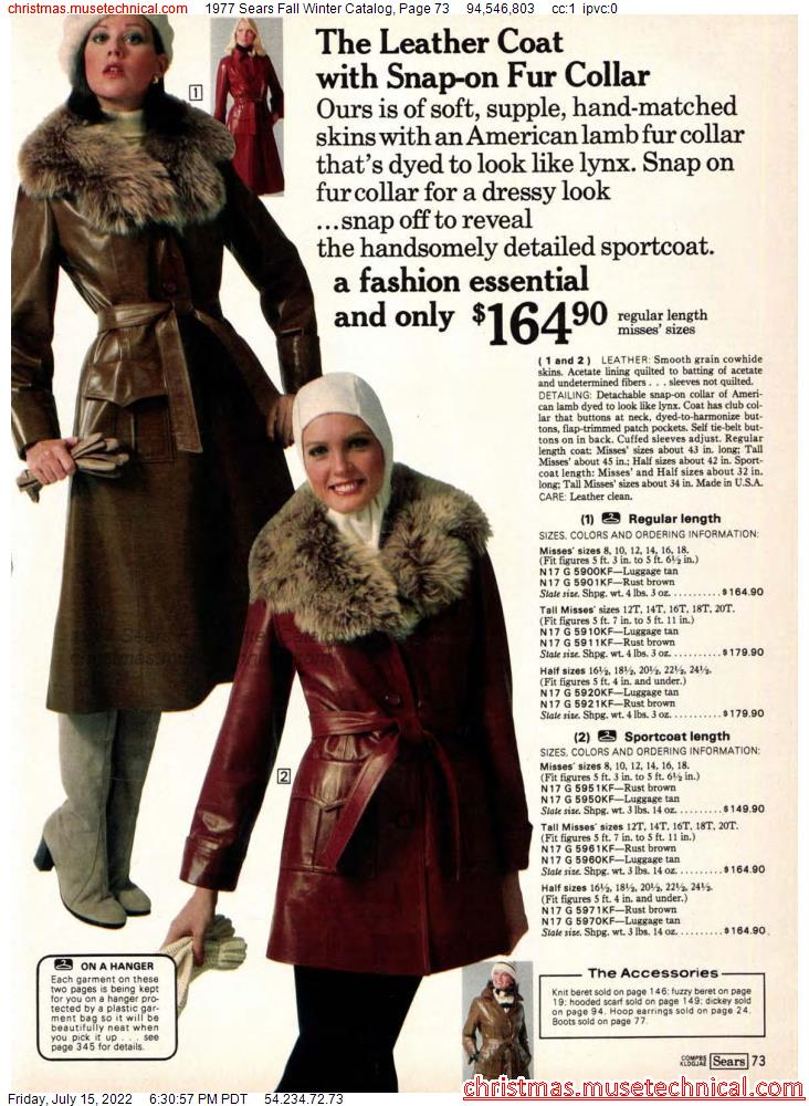 1977 Sears Fall Winter Catalog, Page 73
